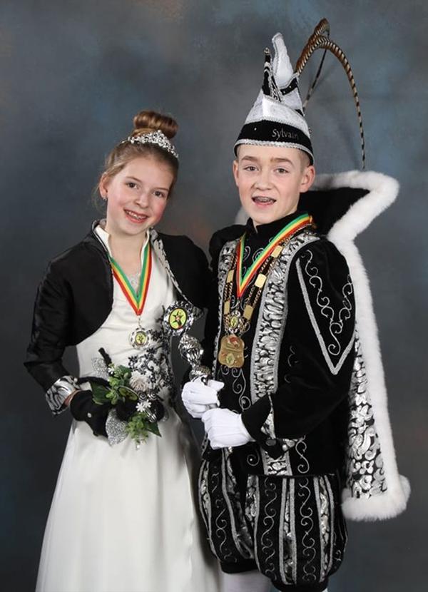 Jeugdprins Sylvain 1e en Jeugdprinses Fenne